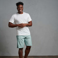 Men's Garment Dyed French Terry Shorts Blue Fog