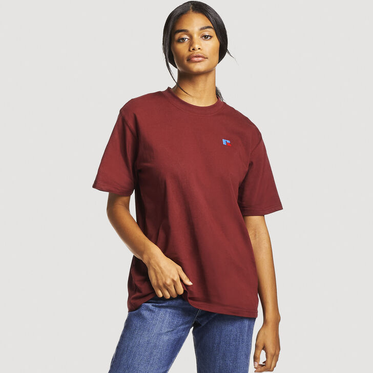 Women's Heritage Heavyweight Boyfriend Tee BURGUNDY