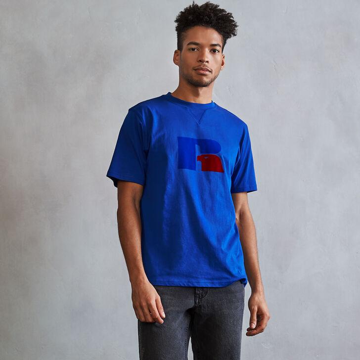 Men's Heritage Flock Graphic T-Shirt MAZARINE BLUE