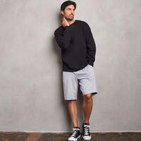 Men's Cotton Classic Fleece Crew Sweatshirt BLACK