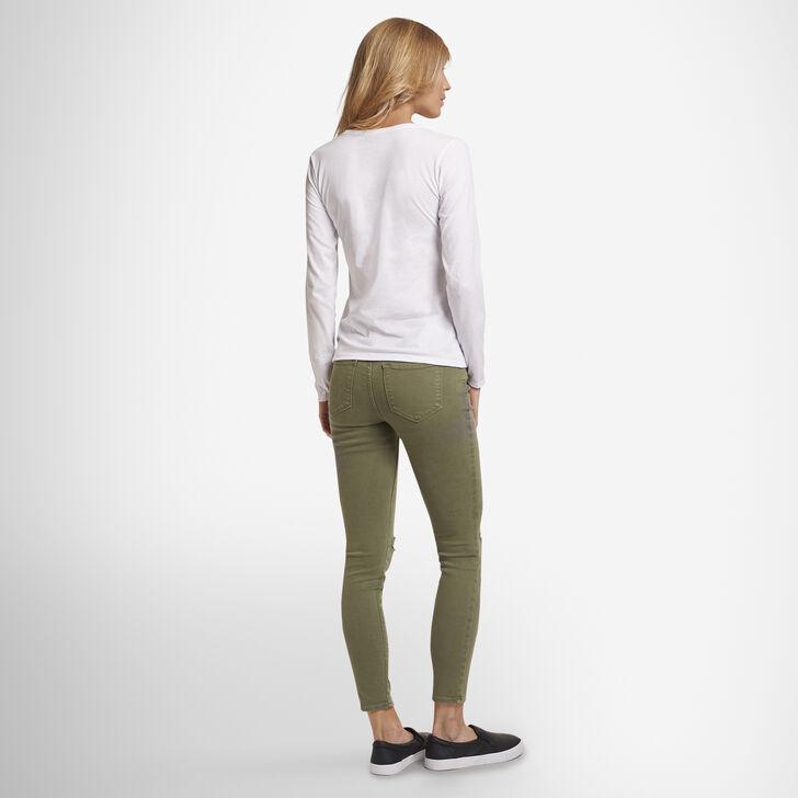 Women's Cotton Performance Long Sleeve T-Shirt WHITE