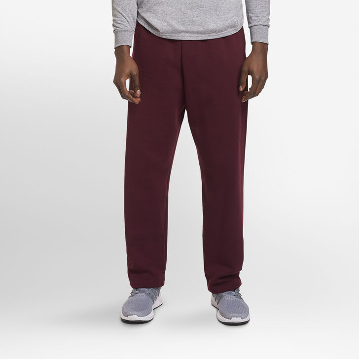 Men's Dri-Power® Open-Bottom Sweatpants with Pockets Maroon