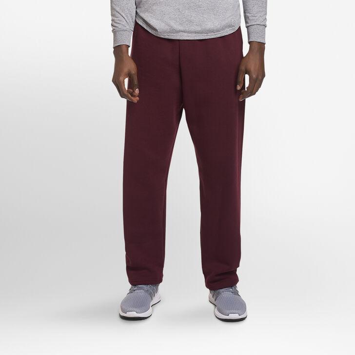 Men's Dri-Power® Open-Bottom Sweatpants with Pockets Maroon