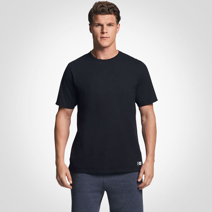Men's Cotton Performance T-Shirt BLACK