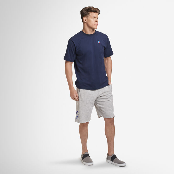 Men's Heritage French Terry Cut Off Shorts GREY MARL