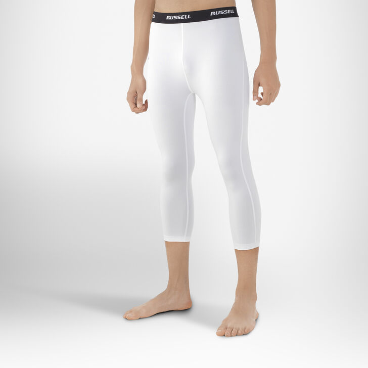Men's Dri-Power® 3/4 Compression Tights WHITE