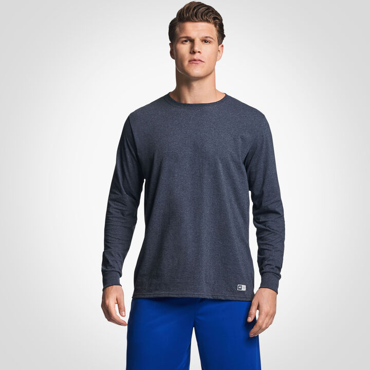Ronhill Mens Momentum Training T-Shirt Top in Blue Long Sleeve Relaxed Fit