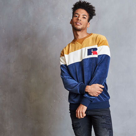 Men's Heritage Velour Crew NAVY