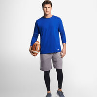 Men's Cotton Performance Long Sleeve T-Shirt ROYAL