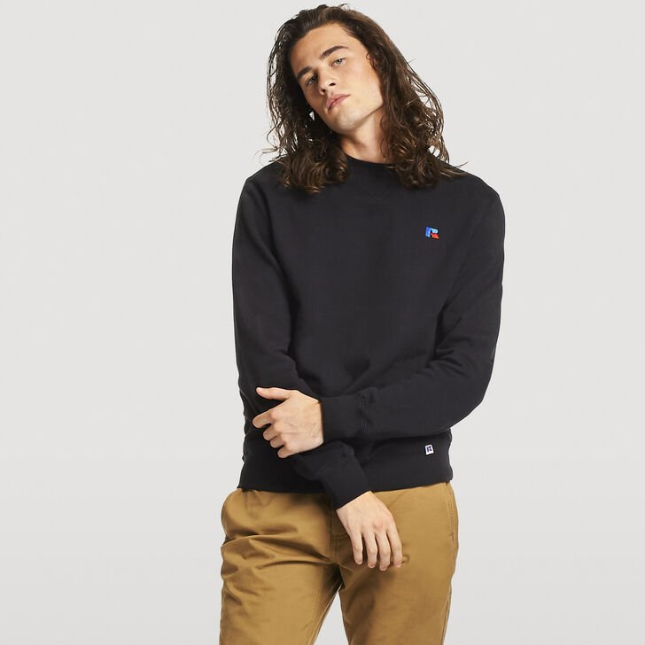 Men's Frank Crew Sweatshirt BLACK