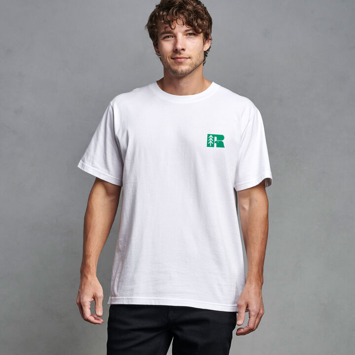 """Russell Athletic x Earthday.org """"Tree-Shirt"""" WHITE"""