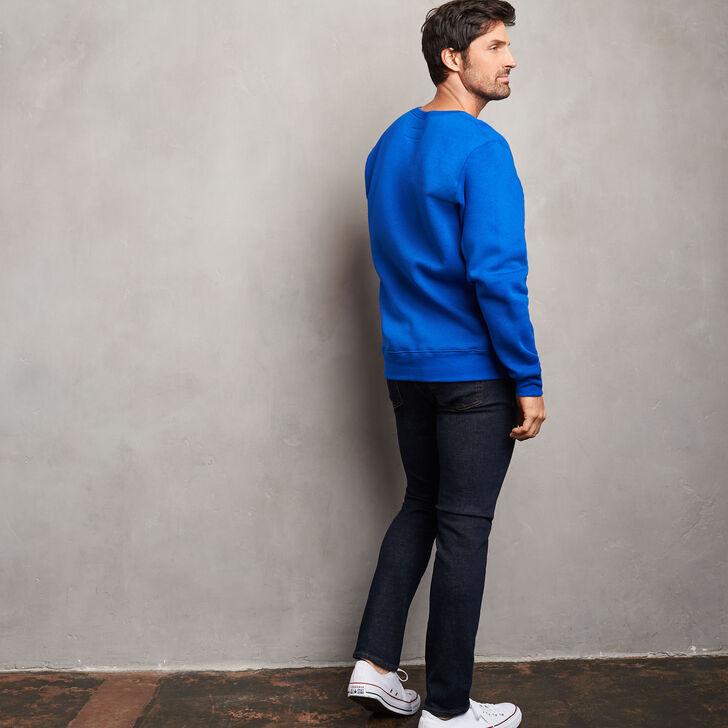Men's Cotton Classic Fleece Crew Sweatshirt ROYAL