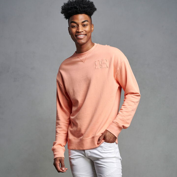 Men's Heritage Garment Dyed French Terry Sweatshirt CORAL PINK