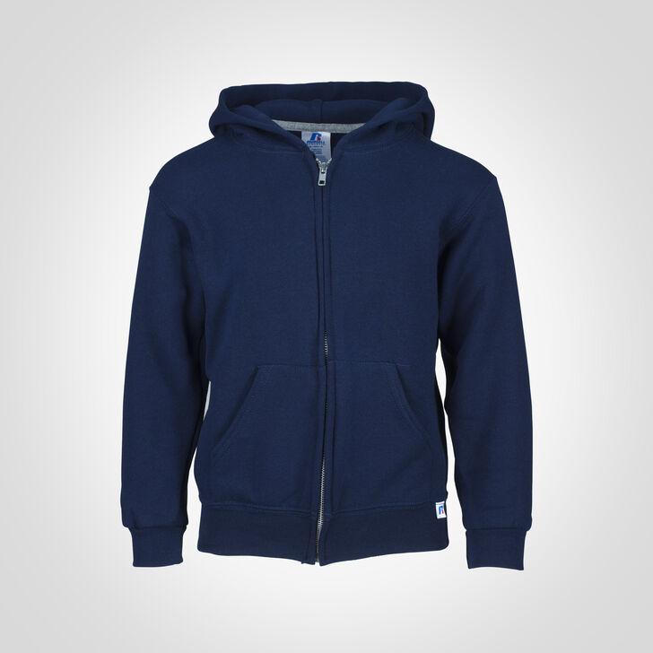Youth Dri-Power® Fleece Full-Zip Hoodie J.NAVY