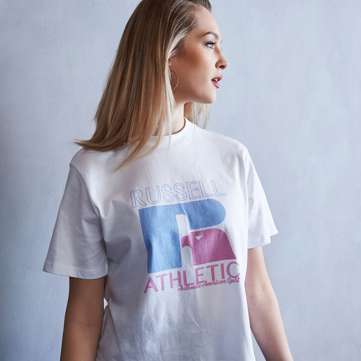Women's Heritage Mid-Crop Graphic T-Shirt WHITE