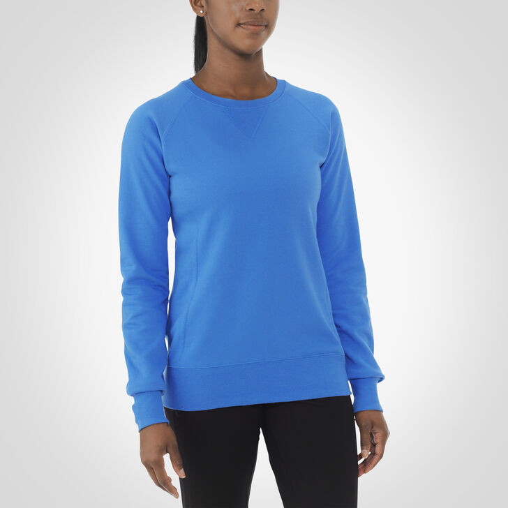 Women's Fleece Crew Sweatshirt COLLEGIATE BLUE