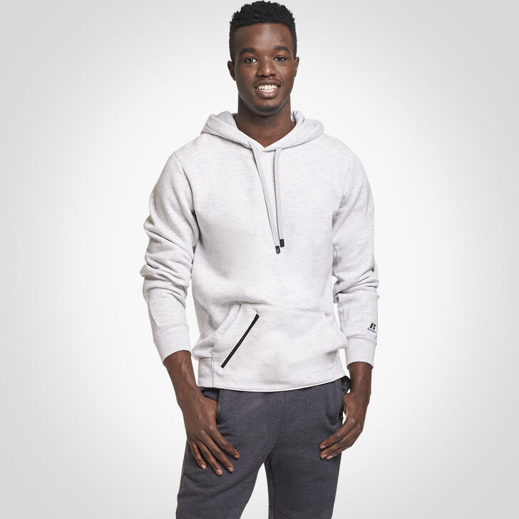 Men's Cotton Rich Fleece Hoodie ASH