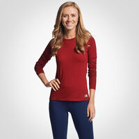 Women's Cotton Performance Long Sleeve T-Shirt CARDINAL