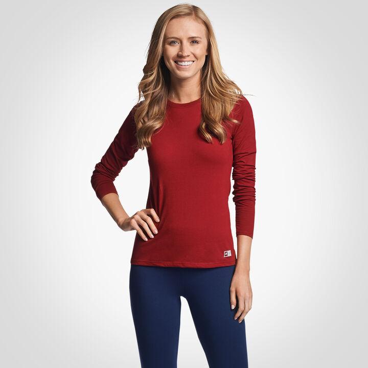 Women's Cotton Performance Long Sleeve T-Shirt CARDINAL
