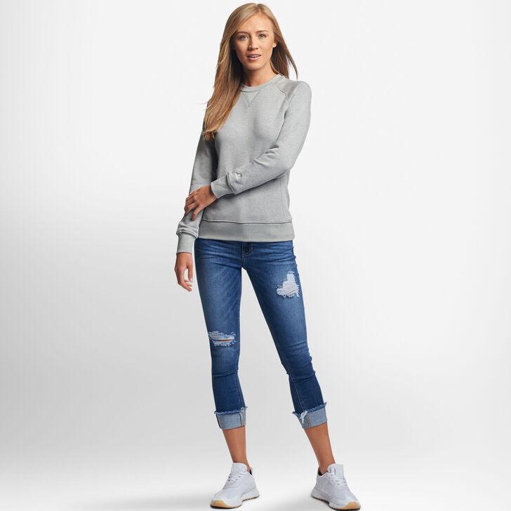 Women's Lightweight Fleece Crew Sweatshirt OXFORD