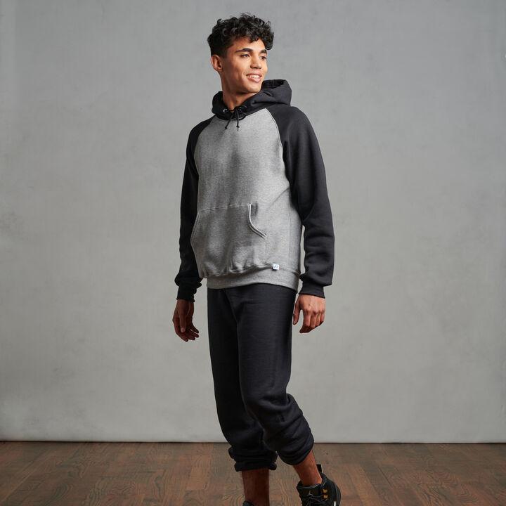 Men's Dri-Power® Fleece Colorblock Hoodie Oxford/Black