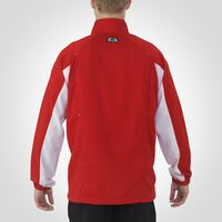 Men's Woven Warm Up Jacket TRUE RED/WHITE