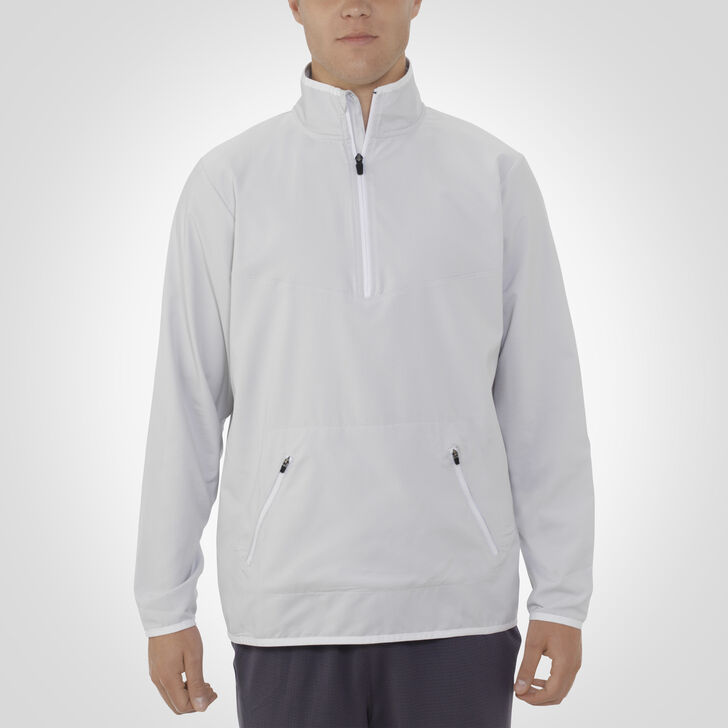 Men's Woven 1/4 Zip Pullover WHITE