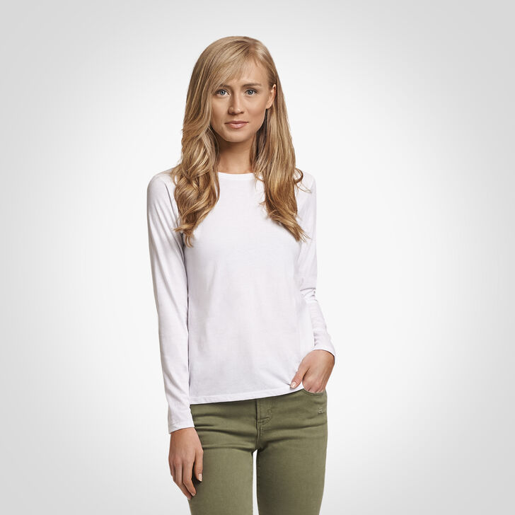 Women's Essential Long Sleeve Tee WHITE