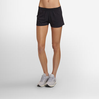 Women's Cotton Performance Active Shorts (No Pockets) BLACK