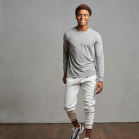 Men's Cotton Performance Long Sleeve T-Shirt Oxford