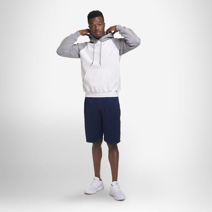 Men's Dri-Power® Fleece Colorblock Hoodie WHITE/OXFORD