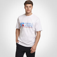 Men's Heritage Distressed Graphic T-Shirt SILVER MARL