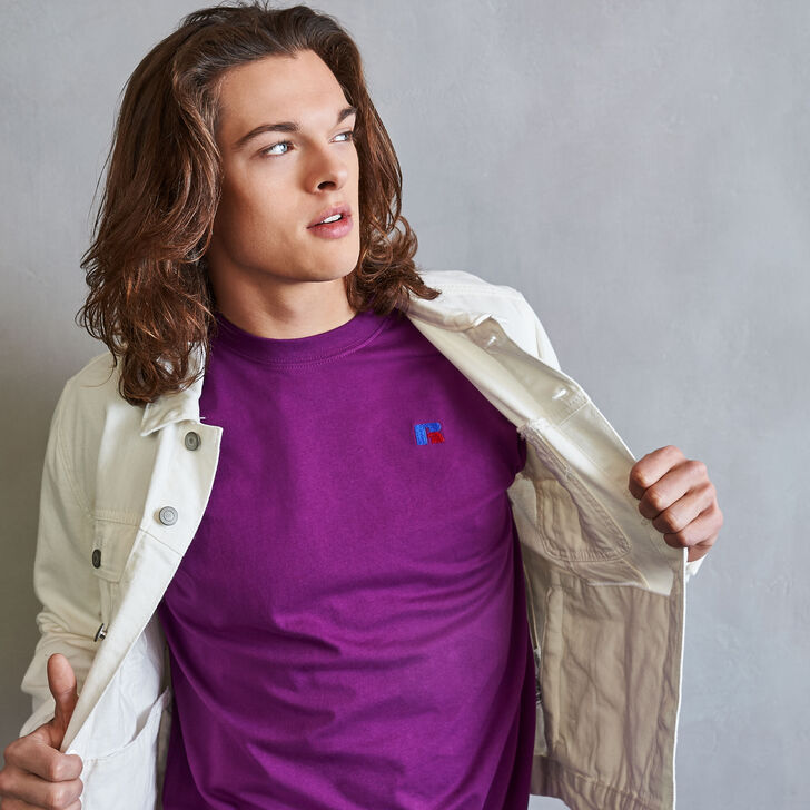 Men's Heritage Baseliner T-Shirt GRAPE