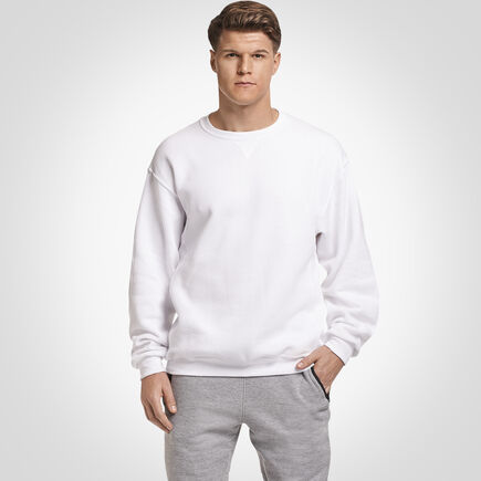 Men's Dri-Power® Fleece Crew Sweatshirt WHITE