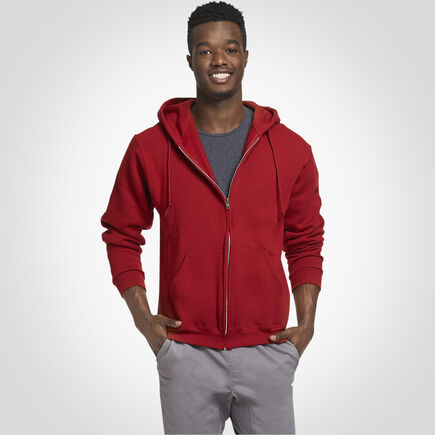 Men's Dri-Power® Fleece Full-Zip Hoodie CARDINAL