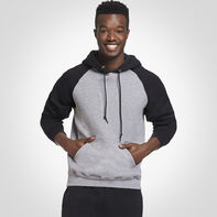 Men's Dri-Power® Fleece Colorblock Hoodie OXFORD/BLACK