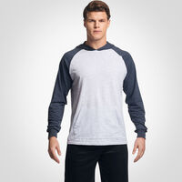 Men's Cotton Performance Lightweight Hoodie ASH/BLACK HEATHER