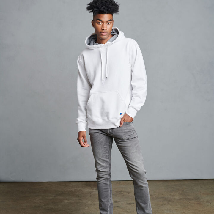 Men's Cotton Rich 2.0 Premium Fleece Hoodie WHITE