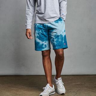 Men's Heritage Tie Dye French Terry Fleece Shorts BLUE