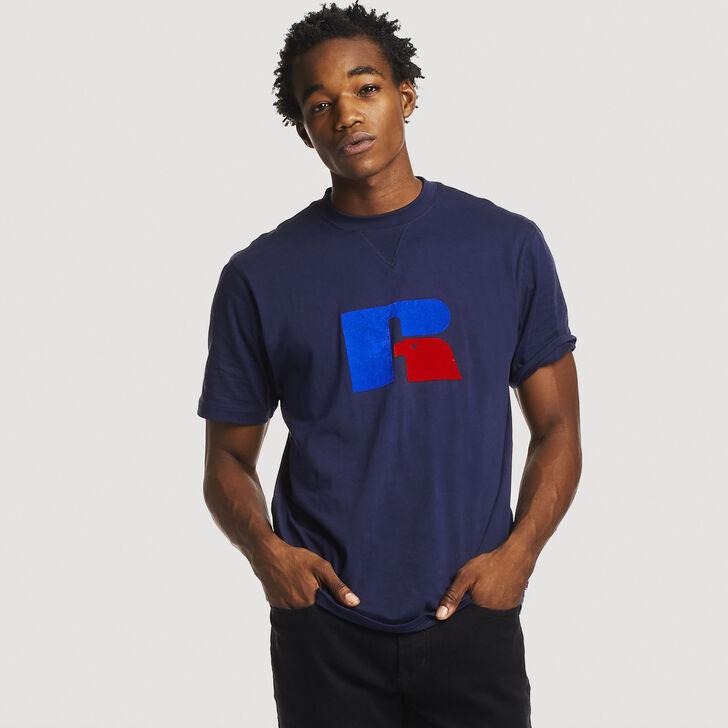 Men's Heritage Heavyweight Flock T-Shirt NAVY