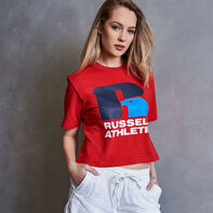 Women's Heritage Cropped Logo Graphic T-Shirt TRUE RED