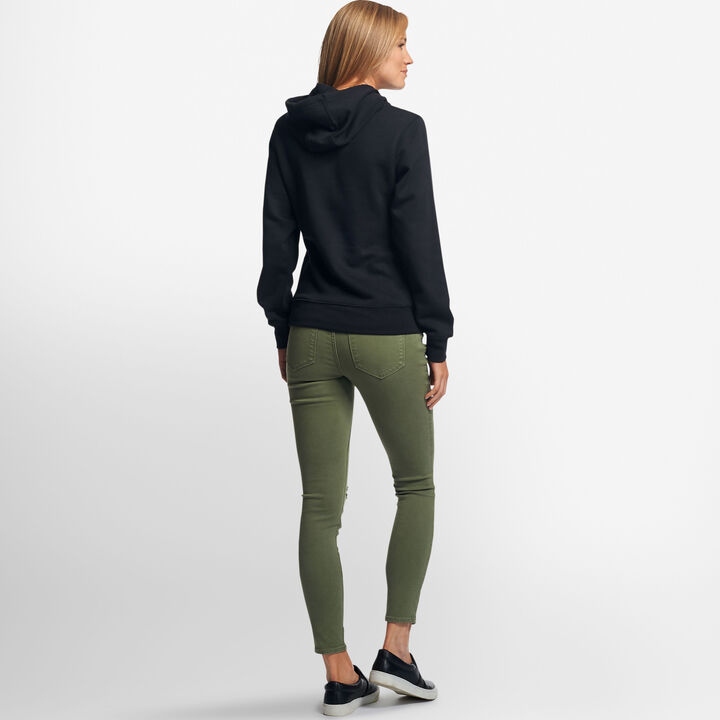 Women's Lightweight Fleece Hoodie BLACK
