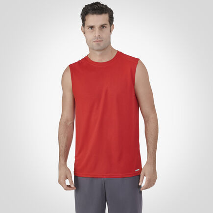 Men's Dri-Power® Performance Mesh Sleeveless Muscle True Red