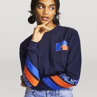 Women's Heritage Long Sleeve Graphic Boyfriend Tee NAVY