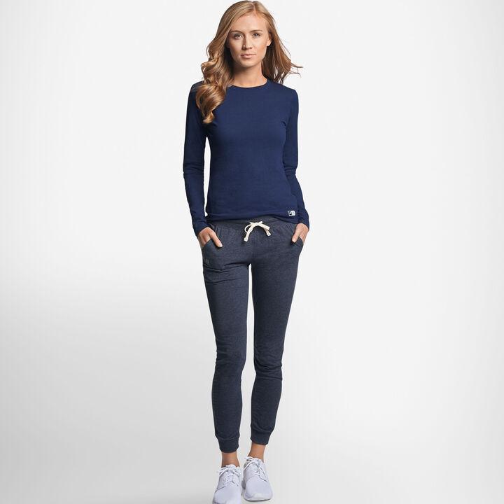 Women's Cotton Performance Long Sleeve T-Shirt NAVY