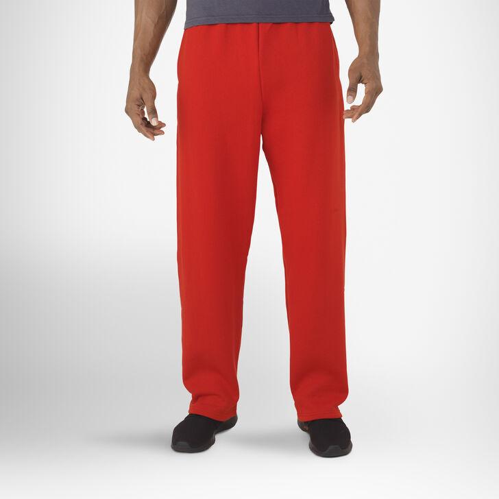 Men's Dri-Power® Open-Bottom Pocket Sweatpants TRUE RED
