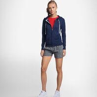 Women's Cotton Performance Lightweight Full Zip Hoodie NAVY