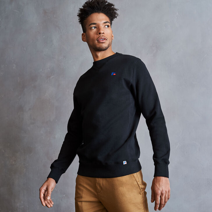 Men's Heritage Fleece Crew Sweatshirt BLACK