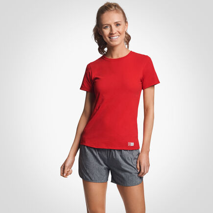 Women's Cotton Performance T-Shirt TRUE RED