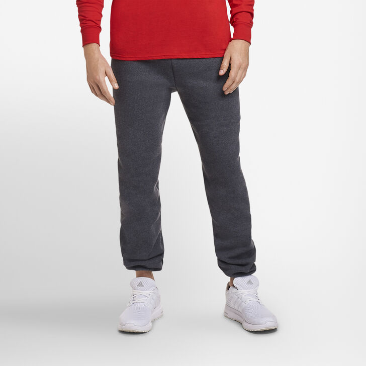 Men's Dri-Power® Closed-Bottom Sweatpants (No Pockets) Black Heather